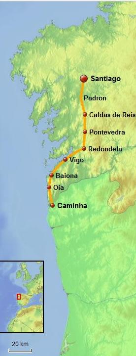 Coastal Way - Caminha to Santiago