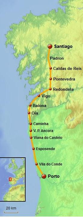 Cycling the Camino da Costa