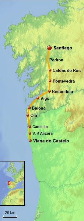 Coastal way - from Viana do Castelo to Santiago