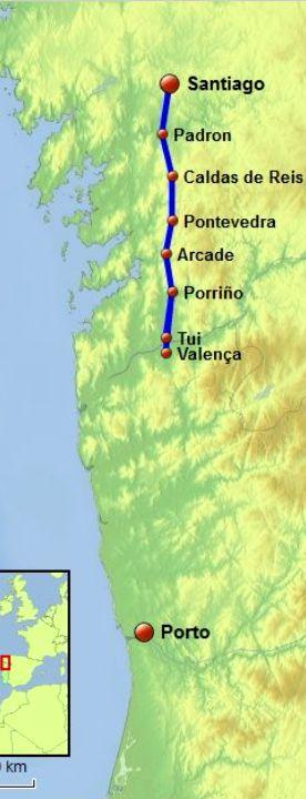 Tui / Valença to Santiago