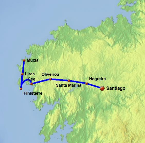 Santiago Finisterre Portuguese Way To Santiago Portugue Camino To St James